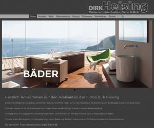 Webdesign für Dirk Heising