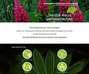 Webdesign für Gartengestaltung Heise
