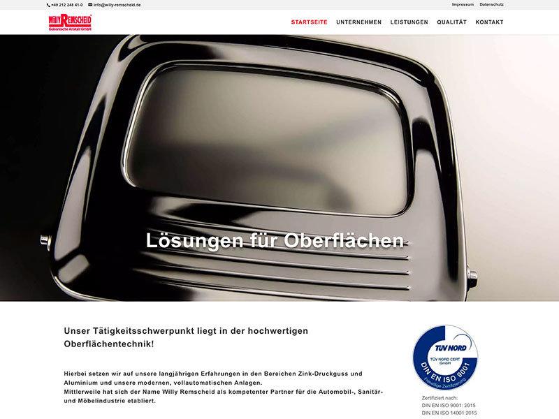 Webdesign für Willy Remscheid