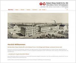 Webdesign für Robert Klaas