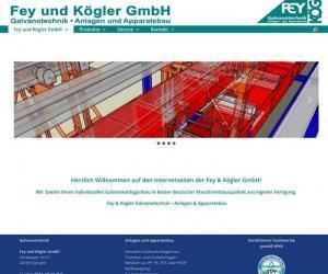 webdesign für Fey & Kögler Galvanotechnik