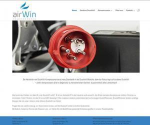 Webdesign für Airwin Kompressoren