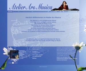 Webdesign für Atelier Ars Musica