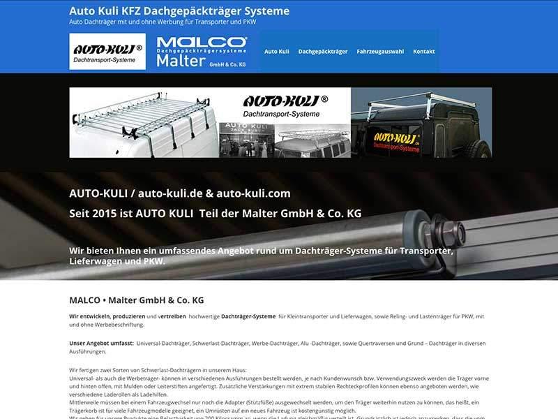 Webdesign für Auto-Kuli Remscheid