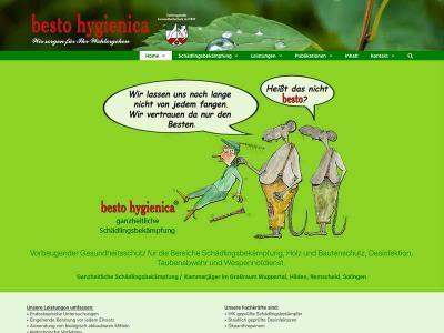 Webdesign für bestohygienica Wuppertal