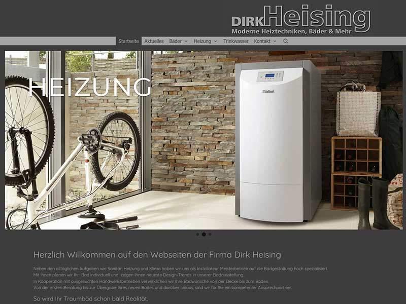 Webdesign für Dirk Heising Langenfeld