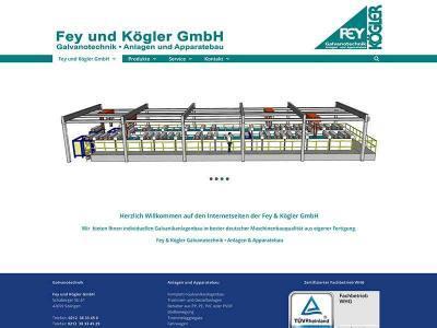 Webdesign für Fey & Kögler