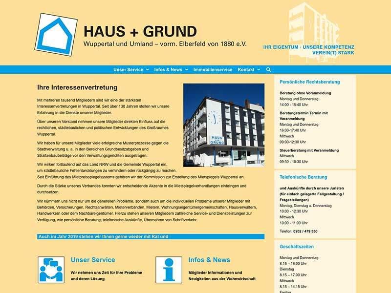 Webdesign für Haus& Grund