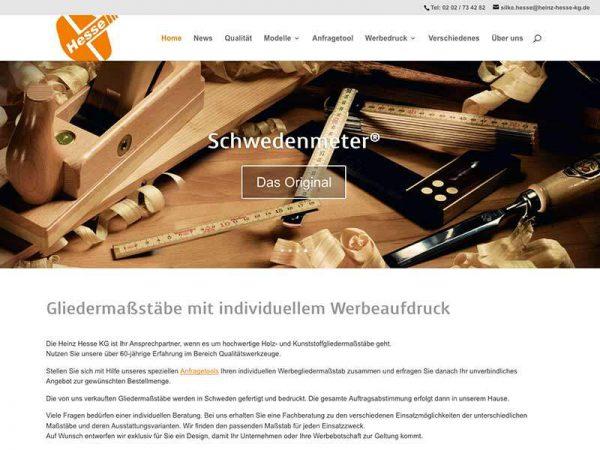 Webdesign für Gliedermasstäbe.de