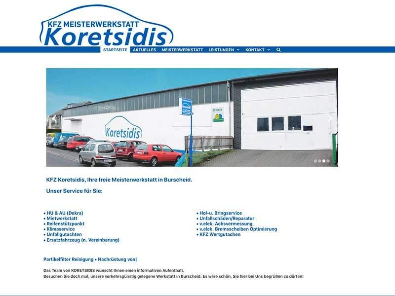 Webdesign für KFZ Koretsidis