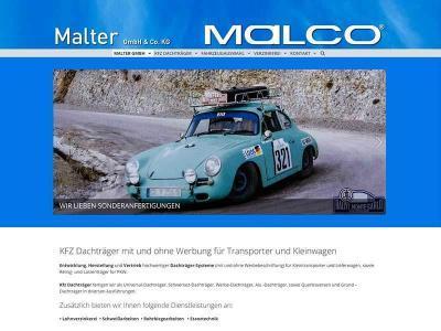 Webdesign für Malco