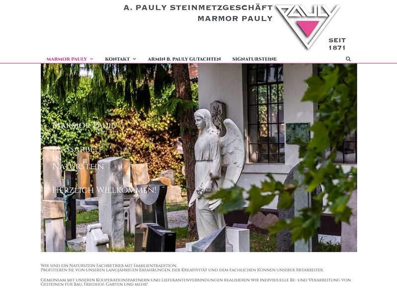 Webdesign für Marmor Pauly
