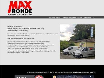 Webdesign für Max Rohde