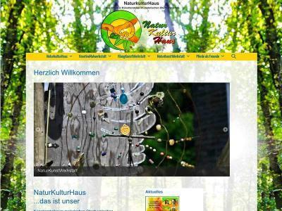 Webdesign für NaturKulturHaus