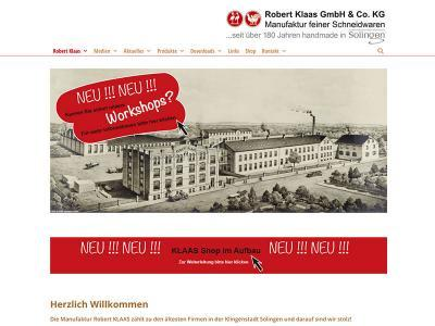 Webdesign für Robert Klaas