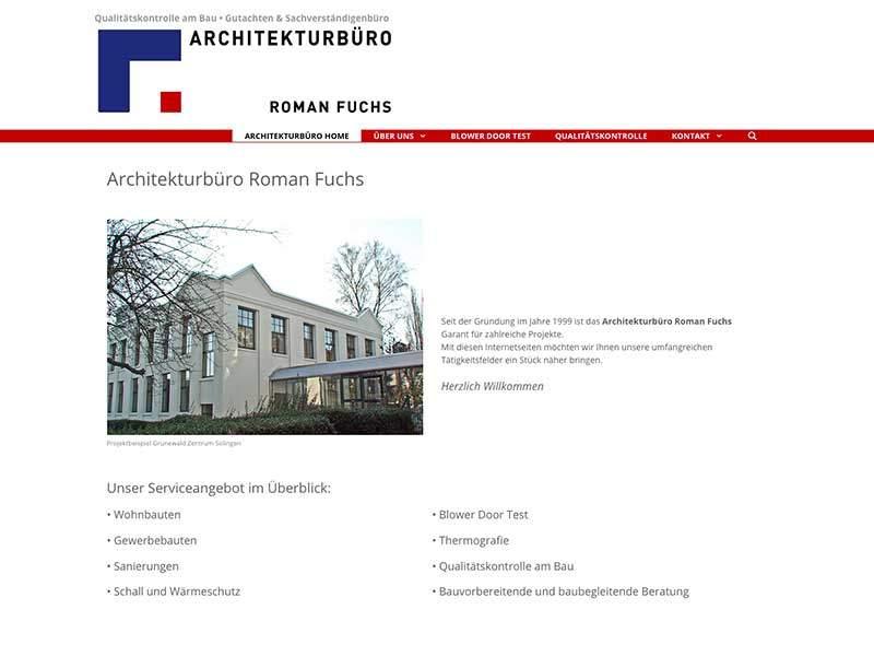 Webdesign für  Architekturbüro Roman Fuchs