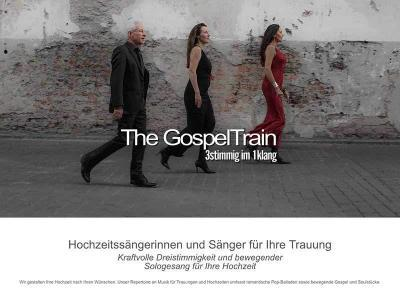 Webdesign für The GospelTrain