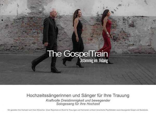 Webdesign für The GospelTrain