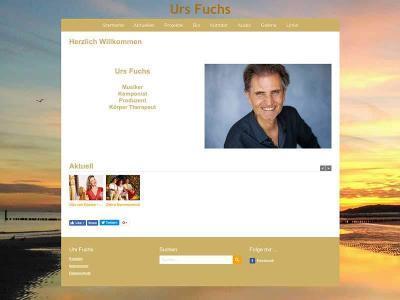 Webdesign für Urs Fuchs