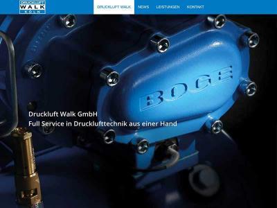 Webdesign für Druckluft Walk GmbH