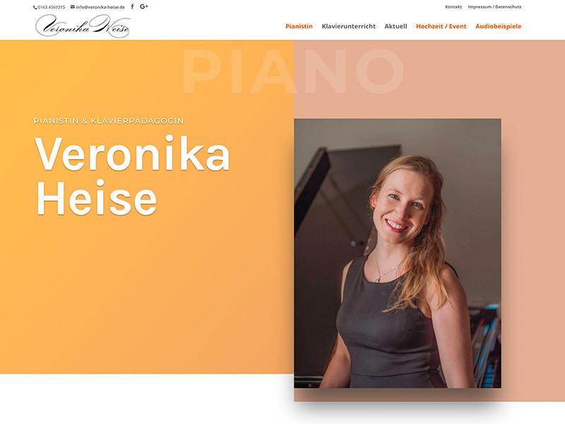 Webdesign für Pianistin Veronika Heise